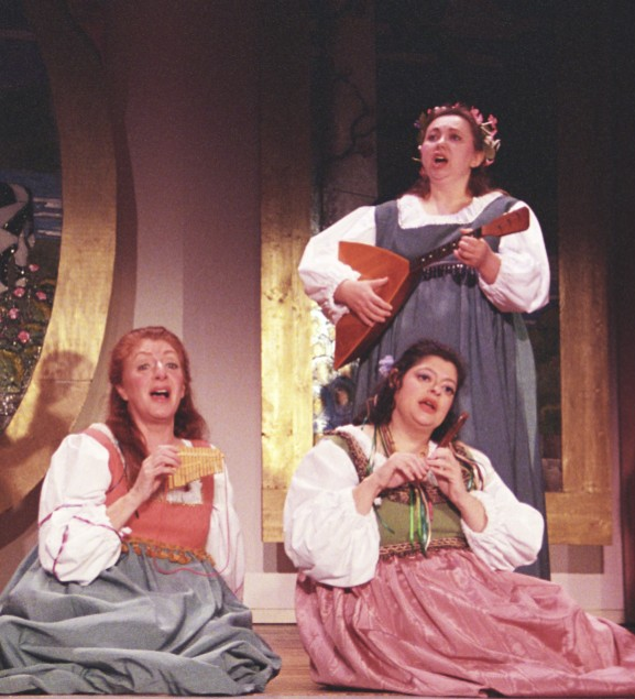 Maureen in Patience 2003, with Christina Arden and Laurel Schneiderman