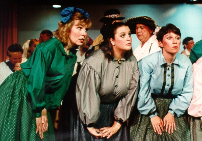 Jean in The Pirates of Penzance 1994, with Rebecca Paul and Amanda Lobaugh